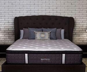 Mattress America Frost 13 Inch Hybrid Pocket Coil Pillow Top Mattress Gel Infused Memory Foam - Queen Size for Sale in Sun City, AZ