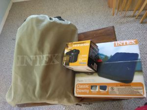 Intex air mattresses and car 12vlt car charger for Sale in Fresno, CA