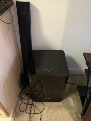 Harman Kardon Sound bar with powerful wireless subwoofer for Sale in Washington, DC