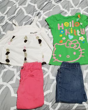 4 pieces of girls size 4 tops and capris for Sale in San Bernardino, CA