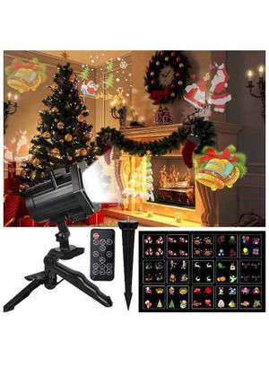 Christmas Projector Lights, Comkes 15 Patterns LED Projector Lights Waterproof Dynamic Outdoor Christmas Lights Spotlights Decoration for Christmas, for Sale in Irvine, CA