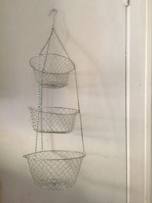 Three kitchen basket for Sale in Lakewood, OH