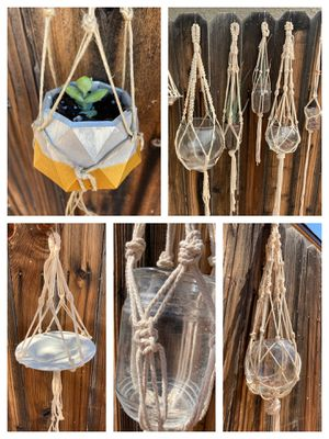 Custom macrame hanging planters for indoor or outdoor succulents or plants for Sale in Phoenix, AZ