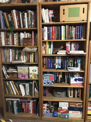 2 separate oak bookshelves for Sale in Thousand Palms, CA