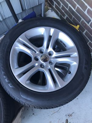 Brand new tires and 2 year old rims for Sale in Weymouth, MA
