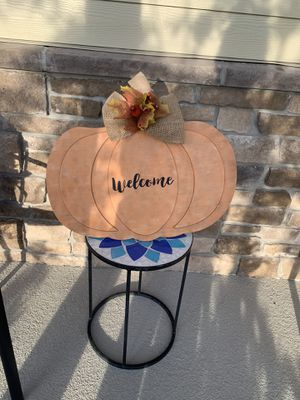 Welcome pumpkin sign for Sale in Lake Mary, FL