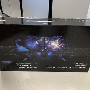 "AOC C24G1 24"" Curved Gaming Monitor FHD 1080p, 1ms 144Hz top 10 monitors for gamers- Brand new sealed in box for Sale in Westminster, CA"