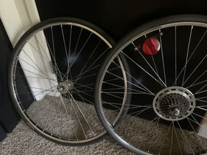 Two bike rims and tires for sale 45 bucks new Tires and tubes for Sale in Detroit, MI