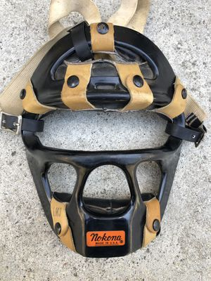 Nokona Vintage baseball catcher mask made in USA!LM3 equipment gloves bats for Sale in Los Angeles, CA