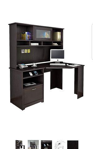 Bush Furniture Cabot Corner Desk with Hutch in Espresso Oak for Sale in Davie, FL