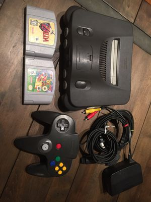 N64! Nintendo 64 with Super Mario 64 and Zelda Ocarina of Time for Sale in Houston, TX