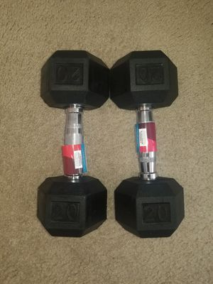 Weider Rubber dumbbells 20 lb- 40 lbs total for Sale in Conyers, GA