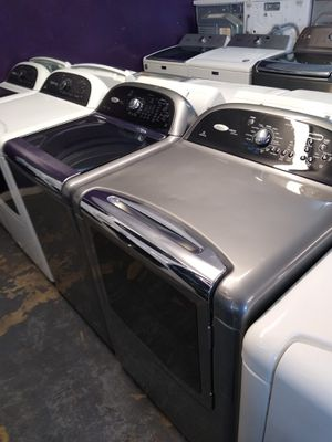 🌈Whirlpool cabrio platinumstainless steel large capacity steam washer and steam gas dryer for Sale in Houston, TX