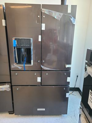 KitchenAid stainless steel 5-doors French door refrigerator new with 6 month's warranty for Sale in Mount Rainier, MD