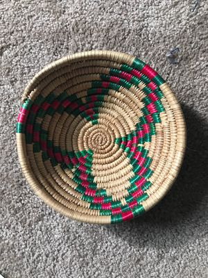 Reed rattan bowl basket from Africa for Sale in Seattle, WA