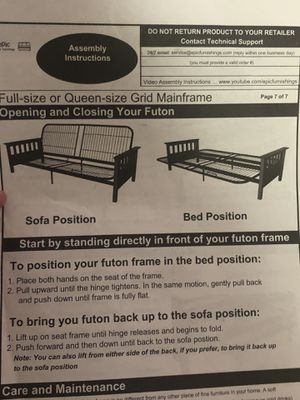 Futon full bed, new in box for Sale in Lexington, KY