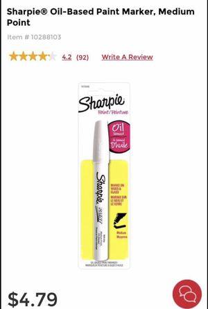 Sharpie Oil Based Paint Marker in White for Sale in Sterling, VA