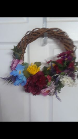 Summer Wreath $15.00 cash only (serious buyers) for Sale in Dallas, TX