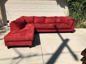 Strikingly Beautiful Red Sectional for Sale in Salt Lake City, UT