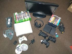 Xbox 360 and Ps2 w/20in flat screen for Sale in Willingboro, NJ