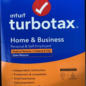 Turbo Tax Home And Business / Turbo Tax Deluxe for Sale in Hesperia, CA