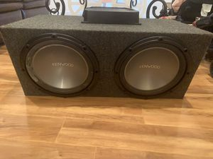 Kenwood subs Pioneer amp for Sale in Seattle, WA