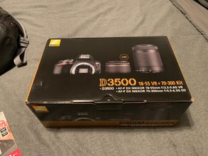 D3500 Camera & 128 GB Memory Card for Sale in Winter Park, FL