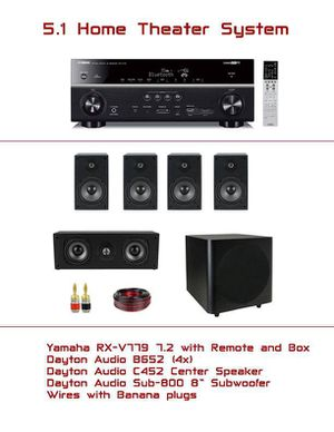 5.1 Home Theater System Yamaha AV Receiver Dayton Audio Speakers for Sale for sale  Queens, NY
