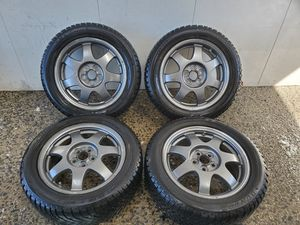 4 16 in 5x100 wheels rims and tires for Sale in Germantown, MD