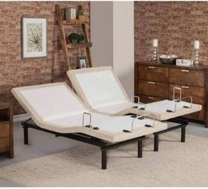 Twin size adjustable bed frame with I flip mattress is all brand new together A great deal for Sale in Portland, OR