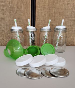 Fun Canning Jars Beverage Set for Sale in Burien, WA