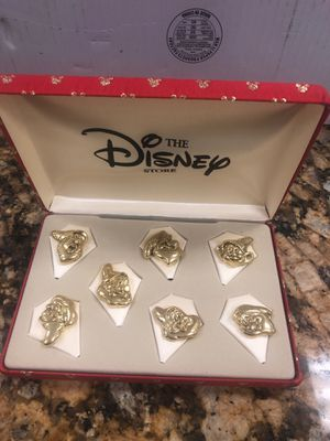 The Disney store Snow White and the seven dwarfs pin set for Sale in Sacramento, CA