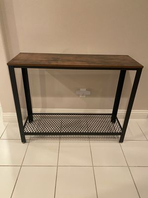 Console Table, Sofa Table, Metal Frame, Easy Assembly, for Entryway, Living Room, Rustic Brown for Sale in Chino, CA