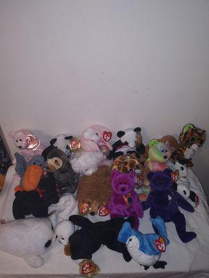Ty beanie babies 20 stuffed animals for Sale in Southfield, MI