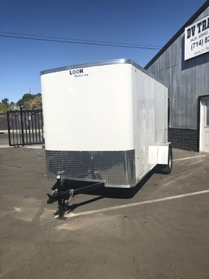 Enclosed 6X12 single axle Look Trailers for Sale in Stanton, CA