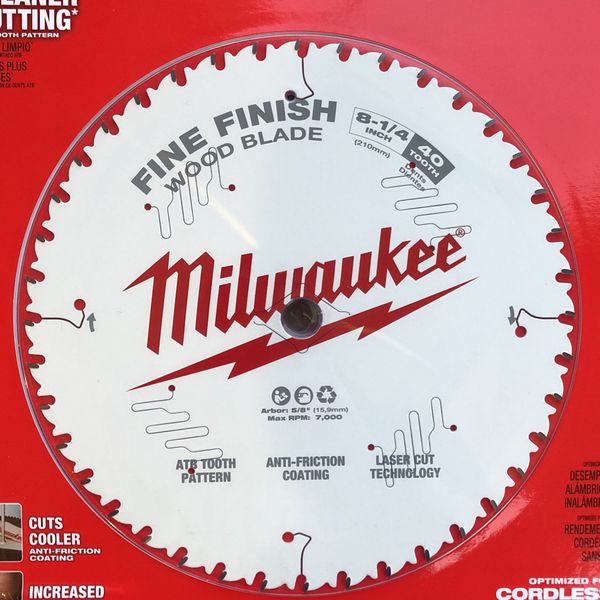 "MIlwaukee 8 1/4"" Blade For Table Saw"
