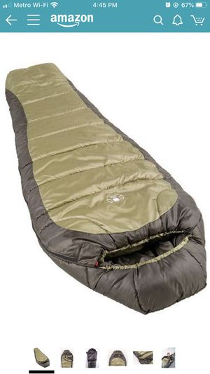 Coleman 0°F Mummy Sleeping Bag for Big and Tall Adults | North Rim Cold-Weather Sleeping Bag for Sale in Las Vegas, NV