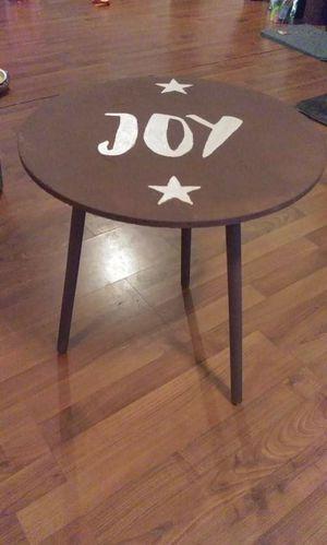 Rustic JOY end table wooden for Sale in Covington, VA