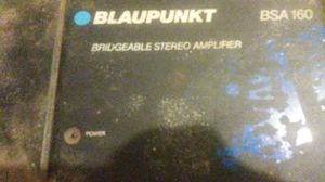 Blaupunkt bridgeable stereo amplifier bsa 160 for Sale in Cleveland, OH