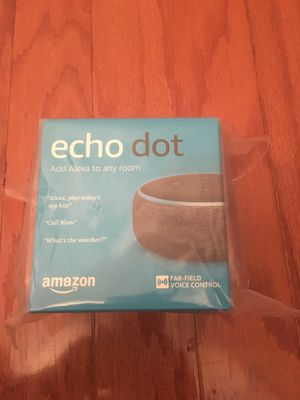 Brand New Amazon Echo Dot 3rd Generation for Sale in West McLean, VA