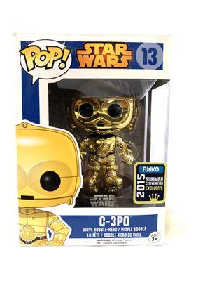 Figure Star Wars C-3po C3po C 3po Robot Pop Funko Summer Convention Edition 2015 for Sale in Inglewood, CA