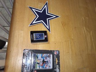 Dallas cowboys magnetic star, authentic zippo and a gridiron greats Marion barber with custom Dallas cowboys mustang for Sale in McClellan Park,  CA