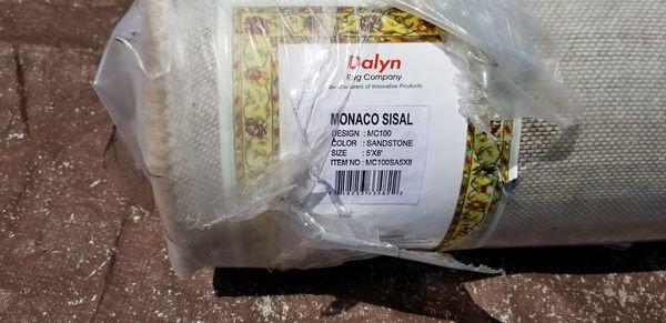 NEW DALYN MONACO SISAL MC100 SANDSTONE AREA RUG 5'X8'
