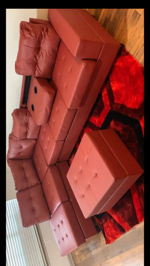 New red sectional with ottoman/ 29 DOWN for Sale in Houston, TX