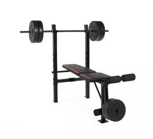 CAP Strength Standard Combo Bench with 100 lb Weight Set for Sale in Alexandria, VA
