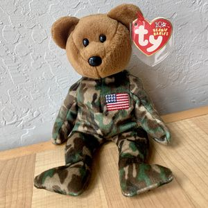 """2003 TY Beanie Babies 10yrs Camo """"Hero"""" Army Bear Collectable Toy for Sale in Elizabethtown, PA"""