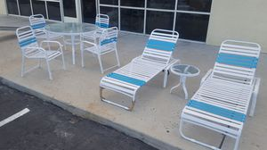 patio furniture poolside 8pc set for Sale in Las Vegas, NV