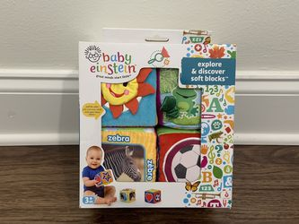 Baby Einstein's Explore And Discover Soft Blocks New In Box for Sale in Port Saint Lucie, FL