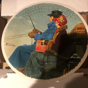 Christmas 2019 Norman Rockwell plates plate number A1518 new for Sale in South Gate, CA
