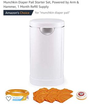 Munchkin diaper pail with refills for Sale in Olney, MD